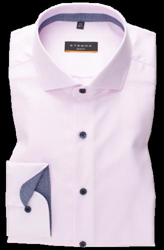 eterna vasalásmentes duplán karcsúsított férfi ing eterna vasalásmentes duplán karcsúsított férfi ing rózsaszín anyagában mintás