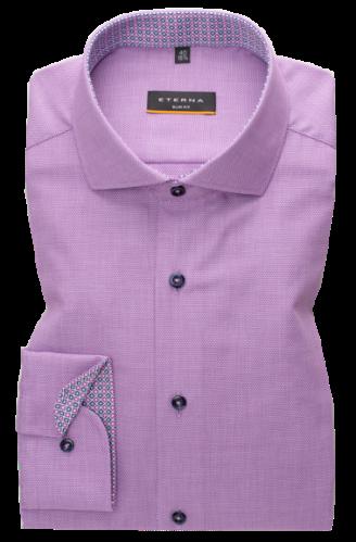 eterna vasalásmentes duplán karcsúsított férfi ing eterna vasalásmentes duplán karcsúsított férfi ing lila anyagában mintás