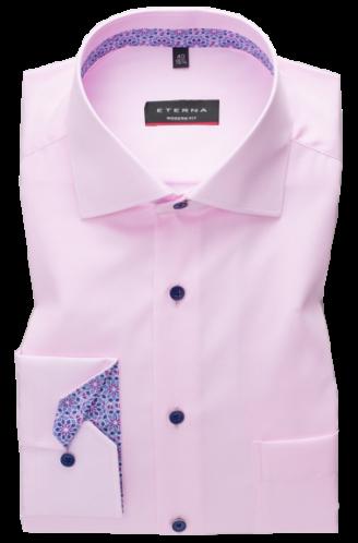eterna vasalásmentes karcsúsított férfi ing rózsaszín