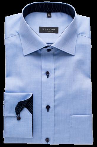 ETERNA comfort fit kék ing (kék gombok, hosszított ujjú, 68cm)