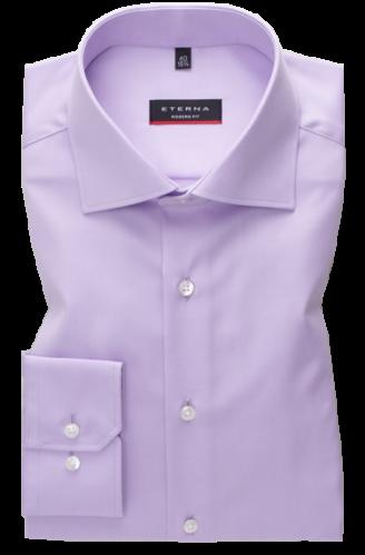 eterna vasalásmentes karcsúsított férfi ing lila (cover shirt)