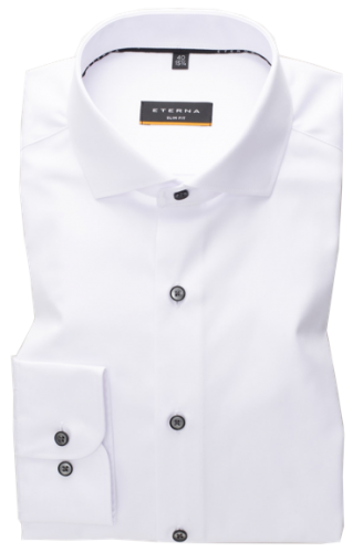 eterna vasalásmentes duplán karcsúsított férfi ing fehér (cover shirt)