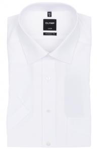 OLYMP vasalásmentes férfi ing karcsúsított fehér rövid ujjú