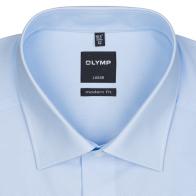 OLYMP vasalásmentes férfi ing karcsúsított világoskék - gallér