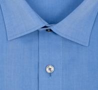 OLYMP vasalásmentes férfi ing karcsúsított kék rövid ujjú - gallér