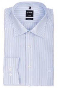 OLYMP vasalásmentes férfi ing karcsúsított kék csíkos