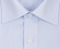 OLYMP vasalásmentes férfi ing karcsúsított kék csíkos hosszított ujjú - gallér