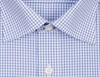 OLYMP vasalásmentes férfi ing kék kockás - gallér
