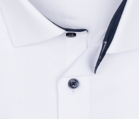 OLYMP vasalásmentes férfi ing karcsúsított fehér mintás - gallér