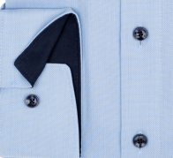 OLYMP vasalásmentes férfi ing karcsúsított világoskék mintás - mandzsetta