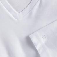 OLYMP férfi póló fehér V nyakú - közeli