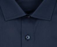 OLYMP vasalásmentes férfi ing karcsúsított sötétkék anyagában csíkos - gallér