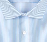 OLYMP vasalásmentes férfi ing kék csíkos - gallér