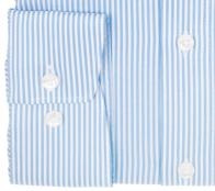 OLYMP vasalásmentes férfi ing kék csíkos - mandzsetta