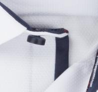 OLYMP vasalásmentes férfi ing karcsúsított fehér mintás - anyag