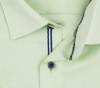OLYMP vasalásmentes férfi ing zöld anyagában mintás rövid ujjú - gallér