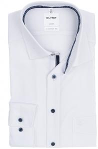 OLYMP vasalásmentes férfi ing fehér anyagában mintás