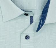OLYMP vasalásmentes férfi ing karcsúsított világoszöld mintás rövid ujjú - gallér