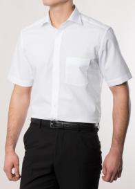 eterna vasalásmentes karcsúsított férfi ing fehér rövid ujjú - modell