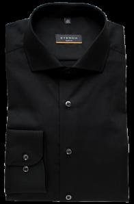 eterna vasalásmentes duplán karcsúsított férfi ing fekete