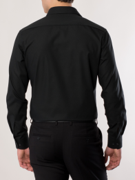 eterna vasalásmentes karcsúsított férfi ing fekete hosszított ujjú - modell hát