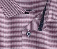 OLYMP vasalásmentes férfi ing karcsúsított bordó tyúklábmintás - gallér