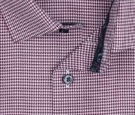 OLYMP vasalásmentes férfi ing bordó tyúklábmintás - gallér