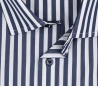 OLYMP vasalásmentes férfi ing karcsúsított sötétkék csíkos - gallér