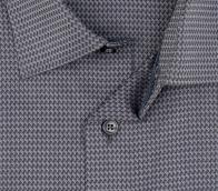 OLYMP vasalásmentes férfi ing karcsúsított sötétszürke mintás hosszított ujjú - gallér
