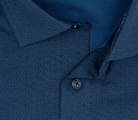 OLYMP vasalásmentes férfi ing karcsúsított sötétkék mintás hosszított ujjú - gallér