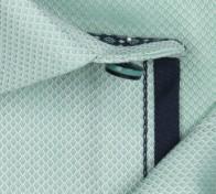 OLYMP vasalásmentes férfi ing karcsúsított zöld anyagában mintás rövid ujjú - anyag