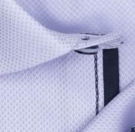 OLYMP vasalásmentes férfi ing karcsúsított lila anyagában mintás rövid ujjú - anyag