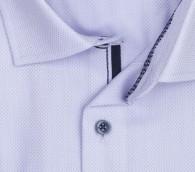 OLYMP vasalásmentes férfi ing lila anyagában mintás rövid ujjú - gallér