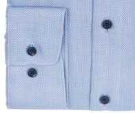 OLYMP vasalásmentes férfi ing karcsúsított világoskék anyagában mintás - mandzsetta