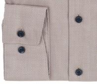 OLYMP vasalásmentes férfi ing világosbarna anyagában mintás - mandzsetta