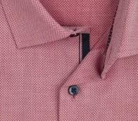 OLYMP vasalásmentes férfi ing karcsúsított piros anyagában mintás - gallér