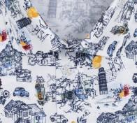 OLYMP vasalásmentes férfi ing karcsúsított olasz mintás - gallér