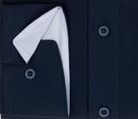 OLYMP vasalásmentes férfi ing karcsúsított sötétkék (csíkos gallér belső) - mandzsetta