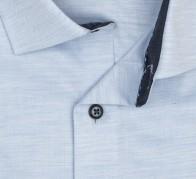 OLYMP vasalásmentes férfi ing karcsúsított világoskék anyagában átlós csíkos - gallér