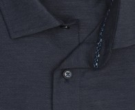 OLYMP vasalásmentes férfi ing karcsúsított sötétkék anyagában átlós csíkos - gallér