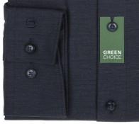 OLYMP vasalásmentes férfi ing karcsúsított sötétkék anyagában átlós csíkos - mandzsetta