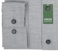 OLYMP vasalásmentes férfi ing karcsúsított világosszürke anyagában átlós csíkos - mandzsetta