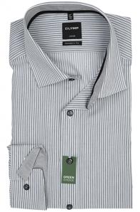OLYMP vasalásmentes férfi ing karcsúsított szürke csíkos