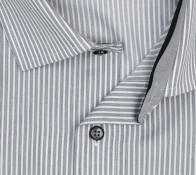 OLYMP vasalásmentes férfi ing karcsúsított szürke csíkos - gallér