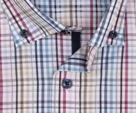OLYMP vasalásmentes férfi ing karcsúsított színes kockás - gallér