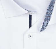 OLYMP vasalásmentes férfi ing karcsúsított fehér anyagában csíkos - gallér