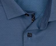 OLYMP vasalásmentes férfi ing karcsúsított szürkéskék mintás - gallér