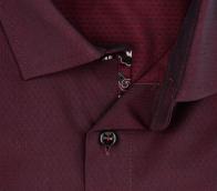 OLYMP vasalásmentes férfi ing sötétbordó mintás - gallér
