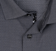 OLYMP vasalásmentes férfi ing karcsúsított sötétszürke mintás - gallér