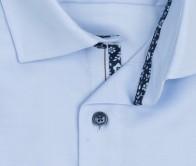 OLYMP vasalásmentes férfi ing karcsúsított hosszított ujjú világoskék átlós csíkos - gallér